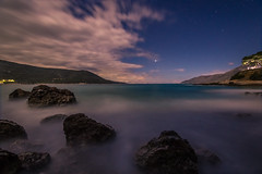 One night under the moonlight (Vagelis Pikoulas) Tags: night nightscape tokina 1628mm landscape mountains mountain moon moonlight porto germeno greece sea seascape waves wave rocks rock view greek europe sky skyscape long exposure clouds cloudy cloud lights lightroom colour colors