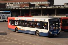 SW 28697 @ Kilmarnock bus station (ianjpoole) Tags: stagecoach western scania k230ub alexander dennis enviro 300 yn64ahl 28697 working route 4 glasgow buchanan street bus station ayr