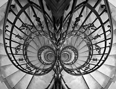 spiraling in - spiraling out (pontla) Tags: spiral stairs staircase stairway architecture reflection pattern circle stair steps design railing art double doublespiral spin spiraling tower church budapest saintistvanbasilika angelwings spiralingin spiralingout