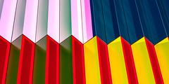 Structures at Mira (Traveller_40) Tags: 50mm abstract art bunt light line2 mira pattern strukturen subway ubahn underground artistic background bright color geometric graphic lightandshadows modern prime primelens rainbow shaddows stripe structure texture