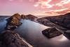 Seascape in Rosy Light (Kurt Evensen) Tags: landscape winter nature water telemark sihouette cold norway longexposure vanishingpoint mølen sky seascape light sea shore le vestfold no