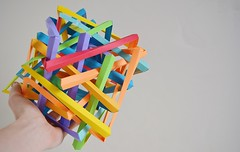 Four Interlocking Self-Interwoven Dodecagons (Byriah Loper) (Byriah Loper) Tags: origami paperfolding paper polygon wireframe compound complex origamimodular octahedral modularorigami modular byriahloper byriah