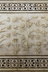 Taj Mahal - Detail (Mike Legend) Tags: india agra taj mahal flower floral carving marble
