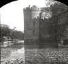 H01966 Bodiam Castle (East Sussex Libraries Historical Photos) Tags: castle bodiam bodiamcastle boat rowingboat moat architecture lillies