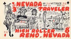 The Viking: The Nevada Traveler & High Roller - Reno, Nevada (73sand88s by Cardboard America) Tags: qsl qslcard cbradio cb vintage theviking nevada games