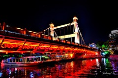 Lighted Bridge in Guilin (Awayfrom Tokyo) Tags: red bridge guilin china