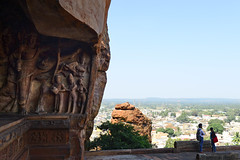 Vishnu Steps Out to Take the Cosmos in a Stride ( or more) (Anoop Negi) Tags: badami vishnu cave 6 karnataka india monolith sculpture finest fable tale travel anoop negi ezee123 unesco heritage site tourism