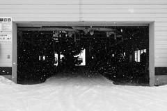 Starting Gates (OzGFK) Tags: asia honshu japan cameraphone iphone6 travel myōkōshi niigataken jp myokokogen myoko akakuraonsen chairlift snow snowing winter snowsport blackandwhite monochrome wanderlust wintersport