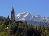 Gignod e il Grand Combin (4314 m) (giorgiorodano46) Tags: agosto2007 august 2007 giorgiorodano gignod grandcombin alpi alpes alpen alps valdaosta campanile belltower clocher mountain village