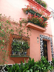 Andalusian! ('cosmicgirl1960' NEW CANON CAMERA) Tags: marbella spain terracotta house plants flowers leaves green red espana andalusia costadelsol yabbadabbadoo travel holidays