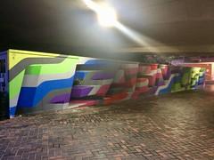 Learn To Be by Rob Lee, University of Sheffield 2017 (Dave_Johnson) Tags: rl83 roblee learntobe learn learning westernbank concourse sheffielduniversity sheffielduni universityofsheffield uni university sheffield southyorkshire mural art streetart publicart graffiti painting paint stripes bridge