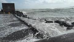 High Tides covering the Great South Wall at  Poolbeg Lighthouse in Dublin Port. (David Hobbs / Mr Hobbs Coffee) Tags: dublinport dublinbay poolbeglighthouse greatsouthwallpierdublin dublinsbestwalks floodingindublin weatheralert storm hightide coastalphotos coastline water sea waves stormsurge dublin