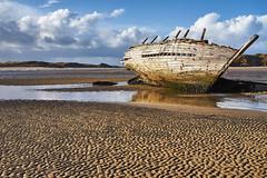 Old Sunken Boat (Phoenix Konstantin) Tags: sonya7 sonyfe28f20 sel28f20 ireland countydonegal boat stream bay sand beach tide smcpfa43mmf19 43limfullframe 43lim pentax pentaxart