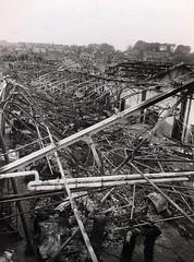 South Croydon bus garage WW2 bomb damage (4) (Ledlon89) Tags: croydon busgarage southcroydon lt lte lptb londontransport ww2 bomb damage bombdamage wartime war london bus bsues londonbus londonbuses oldlondon