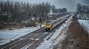 Winter Voyager (_J @BRX) Tags: train voyager xc crosscountry frickley yorkshire england uk winter march 2018 nikon d5100 snow cloud sky tree plymouth hdr
