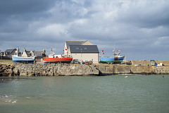 Rosehearty Harbour (syf22) Tags: scotland rosehearty harbour water pier boat sunny fishingboats upanddry stone built