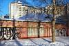 . (Terra Lyusi) Tags: light shadows color colorful winter wall graffiti nikon d40 nikond40