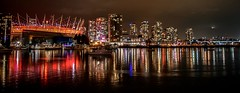 False Creek sparkle (darletts56) Tags: creek river water city vancouver lights reflection evening night buildings bc place boats