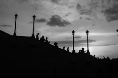 Stairs   Panama (gaalvarezc) Tags: cascoantiguo oldtown photography street streetphotography stphotographia silhouette bw blackwhite blackandwhite black white people panama panamacity pty backlight canon 24mm sky sunset