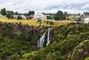 Waratah Falls (Ralph Green) Tags: australia tasmania waratah waratahfalls buildings clouds gorge trees waterfall