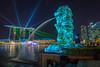 iLight Marina Bay (BP Chua) Tags: ilight ilightmarinabay merlion singapore marinabay marinabaysingapore marinabaysands lights projection lightshow night water landscape colours nikon nikond800e travel tourism asia
