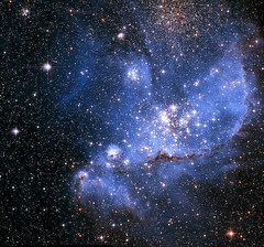 "Hubble image showing a ""Stellar Nursery"" in a nearby galaxy (terryballard) Tags: ngc346"