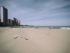 North (ancientlives) Tags: chicago illinois il usa travel oakstreetbeach beach north bluesky towers buildings city cityscape lake lakemichigan lakefronttrail lakeshore sand walking march monday 2018 spring downtown goldcoast