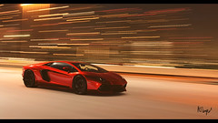 Lamborghini Aventador (at1503) Tags: lamborghini aventador italian v12 supercar sharpangles light streaksoflight speed motion blur wheels red black yellow orange warmtones lamborghiniaventador granturismo granturismosport digitalmotorsport digitalphotography motorsport racing game ps4