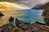 When the Angels fall (Gio_ guarda_le_stelle) Tags: seascape water sea ocean sun sunlight sunset breeze wind rocks islands