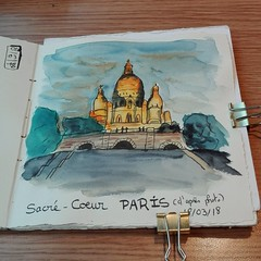 Sacré cœur, Paris. (cecile_halbert) Tags: dessin croquis aquarelle encre sketch sketching sketcher draw drawing sacrécœur paris watercolor carnet sketchbook