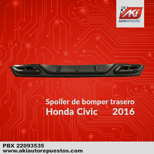 "Spoiler_bomper_trasero_Honda_Civic_2016 <a style=""margin-left:10px; font-size:0.8em;"" href=""http://www.flickr.com/photos/141023675@N04/26339279077/"" target=""_blank"">@flickr</a>"