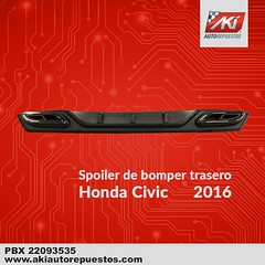 "Spoiler_bomper_trasero_Honda_Civic_2016 • <a style=""font-size:0.8em;"" href=""http://www.flickr.com/photos/141023675@N04/26339279077/"" target=""_blank"">View on Flickr</a>"