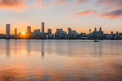 Liverpool waterfront sunrise (Dave Wood Liverpool Images) Tags: liverpoolwaterfront liverpoolsunrise liverpoolarchitecture liverpool waterfront england landscape