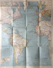 Mapa do Oceano Atlântico (ACMateus) Tags: antiguidades coleccionismo velharias mapa