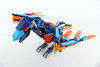 """Clay's Fire Crow - Lego Nexo Knights 70351 Alternate MOC (""""grohl"""") Tags: clay lego nexoknights nexo knights 70351 2017 2018 corw brid animal mecha mech hardsuit power grimrock crow beak articulated posable poseable flying bot claw wings wing function feature technic"""