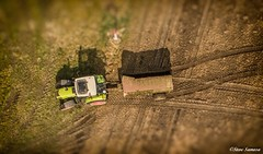 Down on the farm, mucking out. (Steve Samosa Photography) Tags: claas farmland farming muck topdownview drones droneshot tractor aerialphotography billinge england unitedkingdom gb
