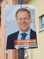 """Ideas, promises?"" (:Linda:) Tags: germany thuringia town hildburghausen election poster man"