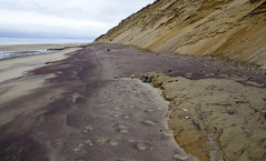 Purple Sand Landscapes (brucetopher) Tags: purple beach sand colorful vibrant nature art foundart natural mineral quartz cliff dune dunes coast coastline atlantic newengland waterfront saltwater carve carved pattern creation landscape scene scenery sandy geology geological weathered weather unique