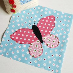 """6"""" Large Butterfly block (The Patchsmith) Tags: patchsmith patchsmithpatterns applique patchsmithsamplerblocks mugrug mugrugs butterfly"""