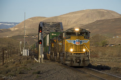 Eastbound Z at Patrick, NV (Patrick Dirden) Tags: up8553 sd70ace emd gm electromotivedivision generalmotors diesel locomotive engine rail railroad train freighttrain intermodal stacktrain containertrain up unionpacific unionpacificrailroad upnevadasubdivision patricknv washoecounty nevada greatbasin