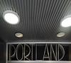 Portland Metal Doorway (Orbmiser) Tags: mzuikoed1240mmf28pro 43rds em1 mirrorless olympus ore portland m43rds metal lights doorway sign letters