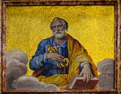 Mosaik des Hl. Petrus über der Hl. Pforte (Markus Wollny) Tags: city vatikan rom cittàdelvaticano vatikanstadt it