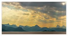 Lofoten light (bavare51) Tags: norwegen lofoten europa reise landschaft sky clouds himmel licht siluette wasser berge