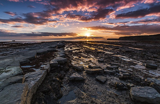 End of the day at Kimmeridge in Dorset