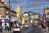 East Ham High Street with Sri Mahalakshmi Temple (London Less Travelled) Tags: uk unitedkingdom england britain london newham eastham eastlondon street shop shopping urban suburban hindu temple car bus
