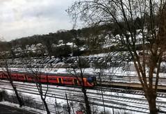 Train in snow (dksesh) Tags: seshadri dhanakoti harita appleiphone7 appleiphone iphone7 woking sesh seshfamily haritasya vilambisamvatsara apple iphone snow