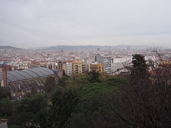 (procrast8) Tags: barcelona spain montjuic torre tower agbar glories sagrada familia cathedral