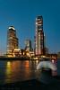 'Kop van Zuid', Rotterdam (mesocyclone70) Tags: city skyline rotterdam holland netherlands bluehour bluesky lights water reflections sk skyscraper dutch building buildings sky