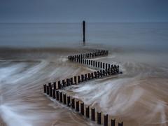 Motion (lloydlane) Tags: norfolk motion long exposure sea defence waves