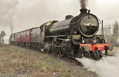 LNER Thompson B1 No. 61264 at York NRM - 7th April 2018 (allan5819 (Allan McKever)) Tags: steam loco locomotive b1 thompson 61264 1264 lner nrm york yorkshire uk england thewhitbyflyer 1z85 museum heritage smoke travel transport